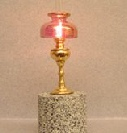 Dolls House Table Light Cranberry